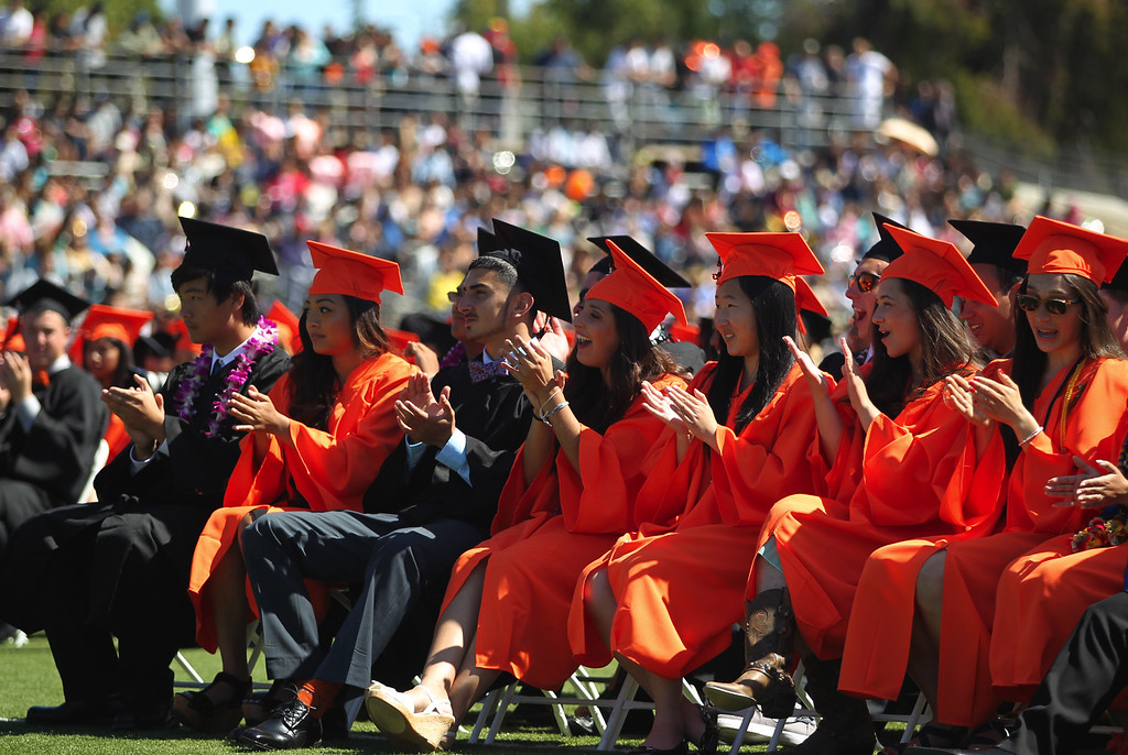 . Washington High School Class of 2013 graduates attend their commencement ceremony in Fremont, Calif., on Wednesday, June 19, 2013. (Anda Chu/Bay Area News Group)