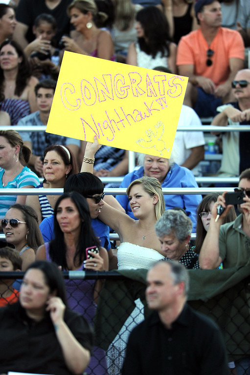 . Family and friends were on hand to watch loved ones graduate at the 2013 Las Lomas High School Commencement held on the Las Lomas High School campus in Walnut Creek, Calif. on Friday, June 7, 2013. (Dan Honda/Bay Area News Group)