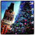 A Chirstmas tree in City Center is photographed with the Tribune Tower in the background at 12:12pm on Dec. 12, 2012 in Oakland, Calif. This photograph was taken with a phone using Dynamic Light and Instagram applications to create the image. (Aric Crabb/Staff)