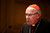 Cardinal William Levada, the former Archbishop of San Francisco, speaks during a press conference to answer questions about the upcoming Conclave of Cardinals to elect a new Pope after the unexpected retirement of Pope Benedict XVI, on Feb. 25, 2013 at St. Patrick's Seminary & University in Menlo Park. (Dai Sugano/Staff)