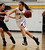 St. Francis High School's Shelbi Aimonetti (3) heads to the basket against Lynbrook High School's Dolly Yuan (42) in the fourth period for the CCS Open Division Girls Basketball semifinals at Oak Grove High School in San Jose, Calif., on Wednesday, Feb. 27, 2013.  St. Francis High School won 37-27.  (Nhat V. Meyer/Staff)