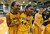 Bishop O'Dowd High's Oderah Chidom (22) left, and K.C. Waters (44) celebrate after their team won their Division III North Coast Section basketball game 77-48 against Miramonte High in Dublin, Calif., on Saturday, March 2, 2013. (Doug Duran/Staff)