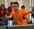 Aleck Wu, 10, plays in the table tennis tournament at the Lunar New Year Festival.