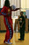 Harlem Globetrotters' Slick Willie Shaw shows Laurel Elementary School student Kimani Rayfield, 9, one of the team's trademark basketball skills that he wants Rayfield to try and copy during a visit in Oakland, Calif., on Wednesday, Jan. 16, 2013. (Anda Chu/Staff)