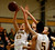 St. Francis High School's Kate Hoey (33) fights for a rebound against Lynbrook High School's Jackie Hudepohl (14) in the second period for the CCS Open Division Girls Basketball semifinals at Oak Grove High School in San Jose, Calif., on Wednesday, Feb. 27, 2013.  (Nhat V. Meyer/Staff)