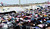 Sunni protesters hold a Friday prayer service on Iraq's main highway to Jordan. The protest againsts the Shiite-led government in Baghdad began at the start of the year and blocks the roadway. (Roy Gutman/MCT)