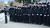 Members of the San Jose Police Department salute as the procession heads back to Santa Cruz following services at the HP Pavilion in San Jose, Calif., on Thursday, March 7, 2013. Thousands attended the memorial service for Santa Cruz police officers Loran 