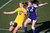 Bishop O'Dowd's Darby Nordin (12) and Piedmont's Erin Greening (17) fight for a ball in the first half of overtime of their North Coast Section Division II Girls Soccer Championship at Dublin High School soccer field in Dublin, Calif., on Saturday, Feb. 23, 2013. Bishop O'Dowd won 3-2 in a series of penalty kicks. (Ray Chavez/Staff)