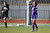 Piedmont's Lindsey Vaughn (15) reacts after missing her penalty kick against Bishop O'Dowd goalie Lorna McElrath (1) in the North Coast Section Division II Girls Soccer Championship at Dublin High School soccer field in Dublin, Calif., on Saturday, Feb. 23, 2013. Bishop O'Dowd won 3-2 in a series of penalty kicks. (Ray Chavez/Staff)