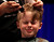 Jackson McKinney, 8, from Mountain View, has his head shaved for the St. Baldrick's Day head shaving event in support of research for pediatric cancer sponsored by the St. Baldrick's Foundation in the NetApp gymnasium at NetApp in Sunnyvale, Calif., on Thursday, March 14, 2013.  (Nhat V. Meyer/Staff)