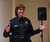 Piedmont Police Chief Rikki Goede speaks during a town hall meeting at the Piedmont Veterans Hall in Piedmont, Calif., on Tuesday, Feb. 12, 2013. (Jane Tyska/Staff)