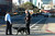 Police officers with dogs respond to a building at 5885 Hollis St. that received a bomb threat in Emeryville, Calif. on Wednesday, Feb. 6, 2013. Two floors of the  building house facilities for Lawrence Berkeley National Laboratory. (Kristopher Skinner/Staff)