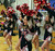 Dublin High School cheerleaders cheer on their team in the first half their basketball game against Campolindo in Dublin, Calif., on Friday, Jan. 18, 2013. (Anda Chu/Staff)