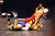 Liberty's Austin Solari, top, wrestles Escalon's Tyler Lawrence in a 132-pound third round match during the California Interscholastic Federation wrestling championships in Bakersfield, Calif., on Friday, March 1, 2013. (Anda Chu/Staff)