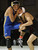Gilroy's Jesse Vasquez lifts the leg of Serra's Elias Hernandez on his way to winning the 113 pound class during the CCS wrestling championships at Independence High School in San Jose, Calif. on Saturday, Feb. 23, 2013. (Jim Gensheimer/Staff)