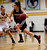 Lynbrook High School's Jackie Hudepohl (14) heads to the basket against St. Francis High School's Lauren Johnson (22) in the first period for the CCS Open Division Girls Basketball semifinals at Oak Grove High School in San Jose, Calif., on Wednesday, Feb. 27, 2013.  (Nhat V. Meyer/Staff)