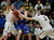 Mitty's Aaron Gordon, left, and Connor Peterson double team Serra's Henry Caruso in the fourth quarter during the CCS Open Division boys basketball finals at Santa Clara University in Santa Clara, Calif. on Saturday, March 2, 2013. The Archbishop Mitty Monarchs beat the Serra Padres, 55-46. (Jim Gensheimer/Staff)