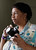 Sherrie Green is photographed with her camera at her Santa Clara, Calif. home on Thursday, June 14, 2012.  Green was a budding photojournalist in the 1990s when she began a project to make portraits of prominent African-American leaders in Monterey County. The project resulted in a series of 28 color portraits. She hopes to one day give the images to the Monterey County Historical Society. A heart attack in September has slowed her efforts to find a permanent home for her portraits but she told the Mercury News she is still seeking a permanent home for them. (Gary Reyes/ Staff)
