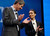 BlackBerry President and Chief Executive Officer Thorsten Heins (L) stands with new BlackBerry Global Creative Director Alicia Keys at the BlackBerry 10 launch event at Pier 36 in Manhattan on January 30, 2013 in New York City. (Photo by Mario Tama/Getty Images)