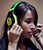 Shauna Cyr wears a pair of USD 299 Soul SL300 noise-cancelling headphones at a press event at the Mandalay Bay Convention Center for the 2013 International CES on January 6, 2013 in Las Vegas, Nevada. (Photo by David Becker/Getty Images)