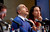 Russian entrepreneur and venture capitalist Yuri Milner looks up at the crowd at the Life Sciences Breakthrough Prize announcement in San Francisco, California February 20, 2013. Eleven winners of the inaugural award each received $3 million and were recognized for excellence in research aimed at curing intractable diseases and extending human life. REUTERS/Robert Galbraith