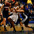 St. Francis High School's Daisha Abdelkader (5) is fouled by Lynbrook High School's Emily Fong (5) in the fourth period for the CCS Open Division Girls Basketball semifinals at Oak Grove High School in San Jose, Calif., on Wednesday, Feb. 27, 2013.  St. Francis High School won 37-27.  (Nhat V. Meyer/Staff)