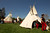 Teepees were set up at the Azteca Mexica New Year Ceremony at Emma Prusch Park  in San Jose, Calif. on Saturday, March 16, 2013.   (LiPo Ching/Staff)