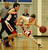 Dublin's Devin Koeplin (1) drives past Campolindo's Andrew Zoliutakis (2) in the second half of their high school basketball game in Dublin, Calif., on Friday, Jan. 18, 2013. (Anda Chu/Staff)