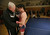 Albany High School wrestling coach Kermit Bankson, left, talks with senior Alex Malanche, 17, after he lost his match against Tennyson High School in Albany, Calif. on Friday, Jan. 17, 2013.  (Jane Tyska/Staff)