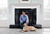 David Hew and his dog Colby sit by the fireplace at their home in Los Altos, Calif. on Wednesday, March 6, 2013.  The fireplace in David Hew's home, was remodeled with the help of the app and online site, Houzz.  (LiPo Ching/Staff)