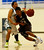 St. Francis High School's Khalil Johnson (23) dribbles against Leigh High School's Kimo Francisco (2) in the second period for the CCS Division II Boys Basketball semifinals at Santa Clara High School in Santa Clara, Calif., on Tuesday, Feb. 26, 2013.  (Nhat V. Meyer/Staff)