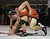 Half Moon Bay's Joseph Lowman tries to stand as Alisal's Jovan Villalobos wrestles for a win in the 170 pound class during the CCS wrestling championships at Independence High School in San Jose, Calif. on Saturday, Feb. 23, 2013. (Jim Gensheimer/Staff)