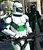 A Star Wars character from The Worlds Definitive Imperial Costuming Organization stands with a leprechaun on his shoulder during the Saint Patrick's Day Parade in Dublin, Calif., on Saturday, March 16, 2013. (Dan Rosenstrauch/Staff)