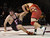 Palma's Hildelv Manzur takes down Fremont's Gary Miltenberger to win the 285 pound class during the CCS wrestling championships at Independence High School in San Jose, Calif. on Saturday, Feb. 23, 2013. (Jim Gensheimer/Staff)