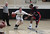 Archbishop Mitty's  Connor Peterson (3) dribbles the ball against Modesto Christian Zerrion Payton (2) in the fourth quarter of NorCal Boys Open Division semi-finals Varsity Boy's Basketball game at Archbishop Mitty High School in San Jose,  Calif., on Tuesday, March 12, 2013.  (Josie Lepe/Staff)