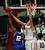 Mitty's Aaron Gordon blocks a shot by Serra's Jeramey Fields in the second quarter during the CCS Open Division boys basketball finals at Santa Clara University in Santa Clara, Calif. on Saturday, March 2, 2013. The Archbishop Mitty Monarchs played the Serra Padres. (Jim Gensheimer/Staff)