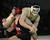 Mitty's Chandler Ramirez, top, wrestles his way to victory over Gunn's Sean Lydster in the 195 pound class during the CCS wrestling championships at Independence High School in San Jose, Calif. on Saturday, Feb. 23, 2013. (Jim Gensheimer/Staff)