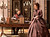 "BEST HOME OFFICE AND GRAND CHAISE: Anna Karenina's husband, here played by Jude Law, works in his austere office filled with neoclassical details. The rustic yet noble snow-covered wooden structures that made up the estate in ""Anna Karenina"" won the top award. (Laurie Sparham/Focus Features)"