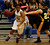 Archbishop Mitty High School's Jahany Anderson (10) dribbles against Wilcox High School's Shania Ratliff (23) in the fourth period for the CCS Open Division Girls Basketball semifinals at Oak Grove High School in San Jose, Calif., on Wednesday, Feb. 27, 2013.  Archbishop Mitty High School won 52-37.  (Nhat V. Meyer/Staff)