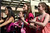 Women dance on the Diablo Valley College campus during a