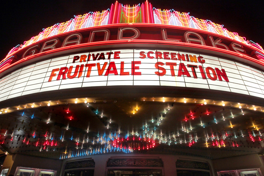 ". The Grand Lake Theater in Oakland, Calif., featured a private screening of the award winning film ""Fruitvale Station\"" on Thursday, June 20, 2013.  The film chronicles the last hours of Oscar Grant\'s life before he was shot and killed on New Year\'s Eve 2009. (Ray Chavez/Bay Area News Group)"