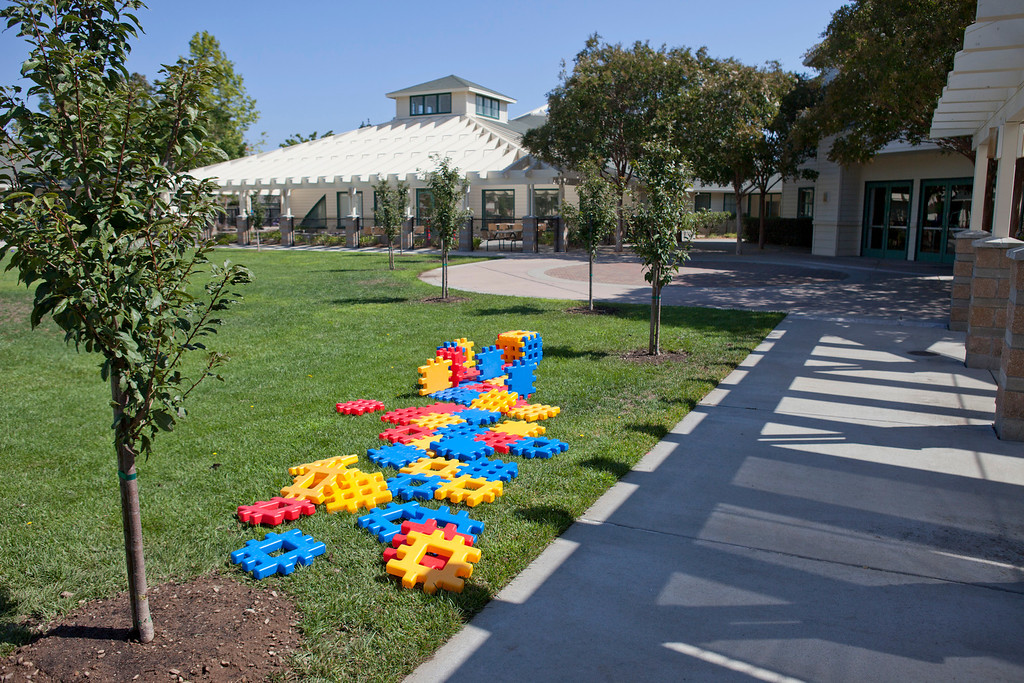 . Building blocks and other educational toys are arrayed at the Harker School\'s new preschool in San Jose Wednesday, July 31, 2013. The school opens in September. (Patrick Tehan/Bay Area News Group)