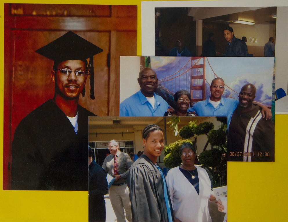 . Personal photos of Michael Tyler, who has earned an associate\'s degree in prison and hopes to be a counselor for at-risk youths in the event he is paroled. The California Board of Parole Hearings denied his first chance for parole in 2012. (Submitted by the Tyler family)