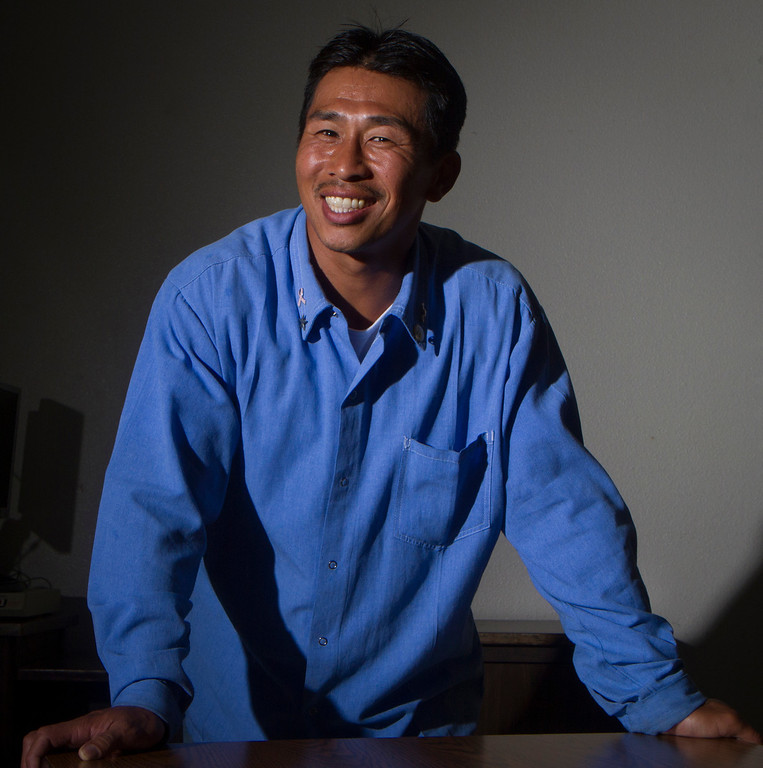 """. Nghiep \""""Ke\"""" Lam, 37, was born in Vietnam. He is serving 27 years to life for a first-degree gang-related murder he committed in Richmond at the age of 17. He has earned an associate\'s degree in prison and become a certified rape-crisis counselor, among other pursuits.  (John Green/Bay Area News Group)"""