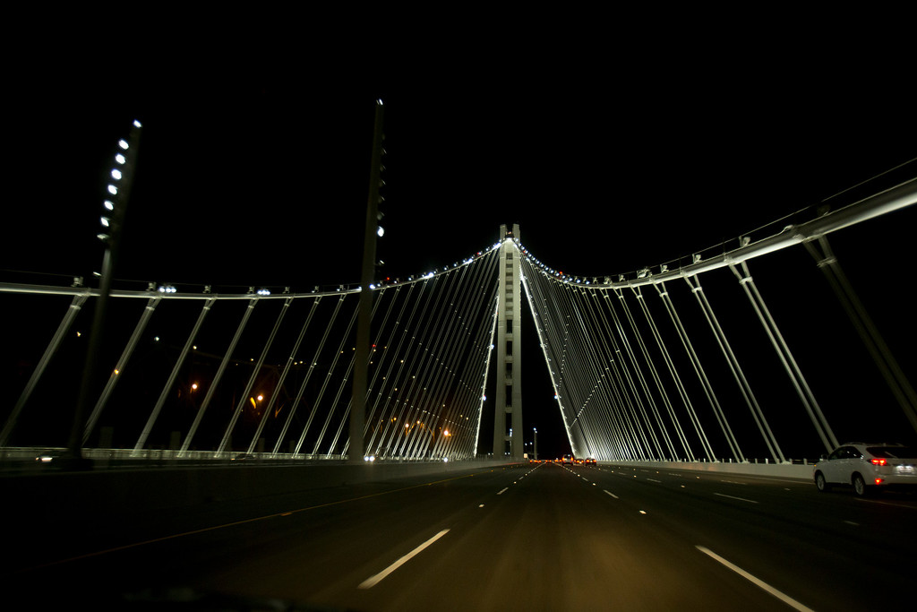 . as the new east span of the Bay Bridge opened to the public, Tuesday, Sept. 3, 2013 in Oakland, Calif. (D. Ross Cameron/Bay Area News Group)