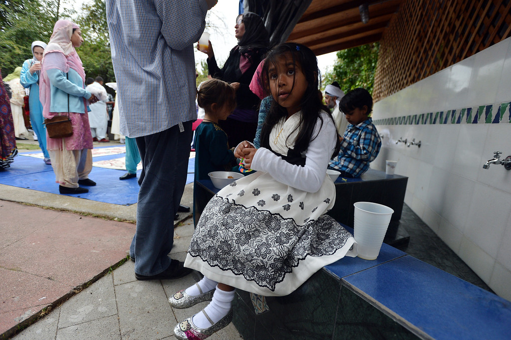 . Children dress up for the Eid al-Fitr celebration at the Naqshbandi Sufi Order Masjid Al Iman mosque in Oakland, Calif., on Thursday, Aug. 8, 2013. (Kristopher Skinner/Bay Area News Group)