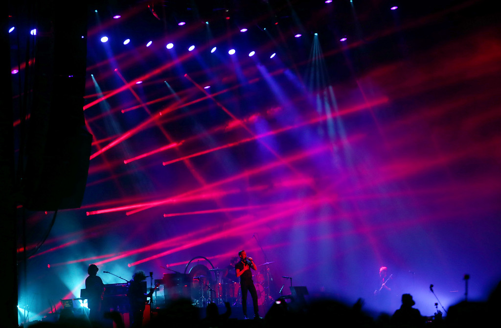 . The Killers perform on the Land\'s End stage during the last day of the Outside Lands music festival at Golden Gate Park in San Francisco, Calif., on Sunday, Aug. 10, 2014. (Jane Tyska/Bay Area News Group)