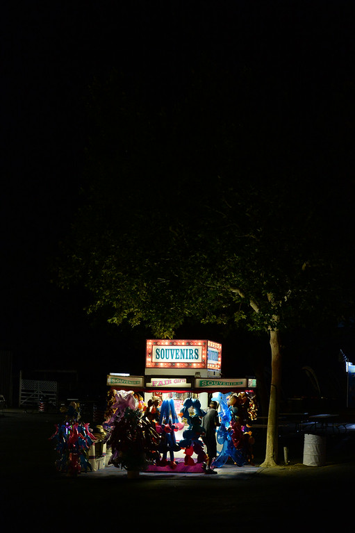 . One of the many souvenir vendors during closing time at the Alameda County Fair on June 25, 2014. (Doug Duran/Bay Area News Group)