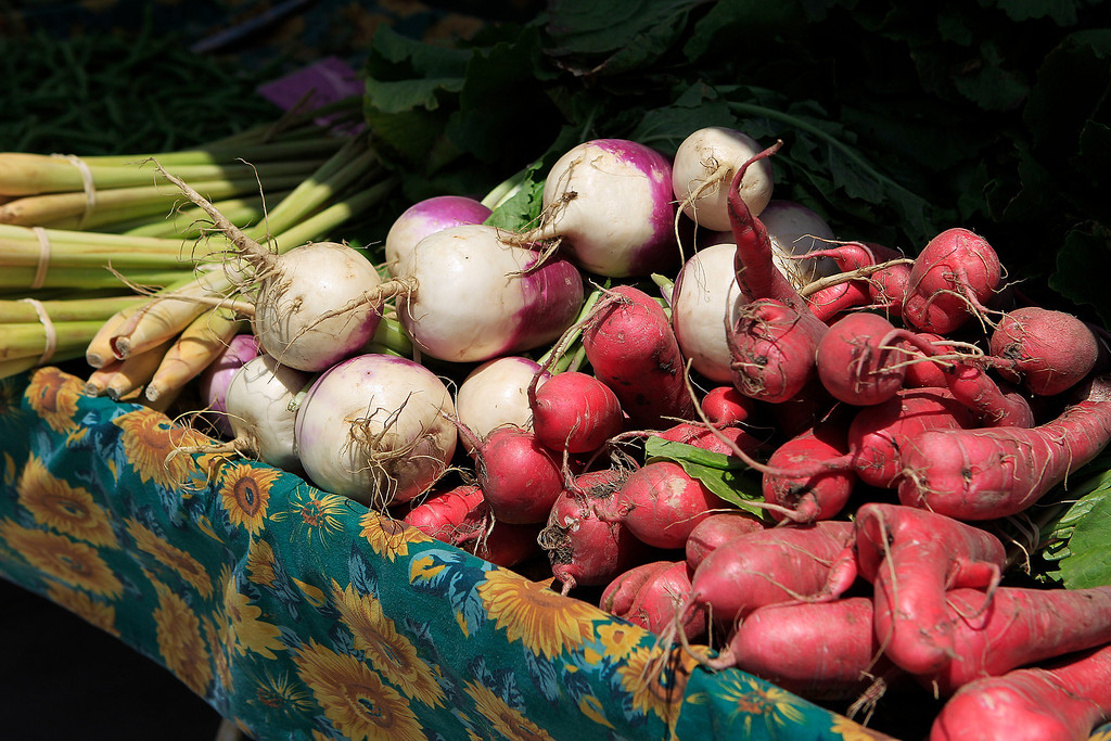. Various vegetables for sale from Stockton\'s Xiong Farm at the new Santa Clara Valley Medical Center Farmer\'s Market in San Jose, Calif. on Wednesday, May 15, 2013.  (LiPo Ching/Bay Area News Group)