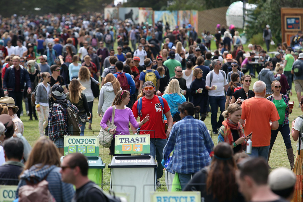 . A large crowd packs the venue during the 6th annual Outside Lands Music and Arts Festival in Golden Gate Park in San Francisco, Calif., on Friday, Aug. 9, 2013.  (Jane Tyska/Bay Area News Group)